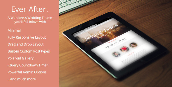 Ever After - Responsive WordPress Wedding Theme