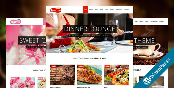 Frattini - Restaurant, Cakes and Coffee WordPress Theme