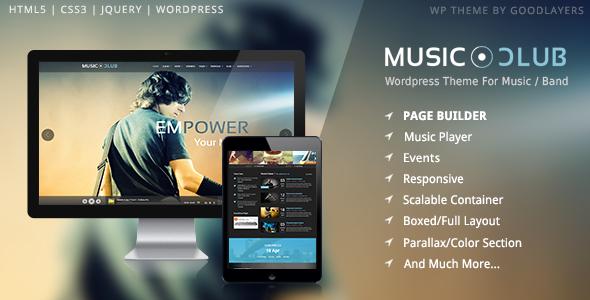 Music Club - Music, Band, Party WordPress Theme