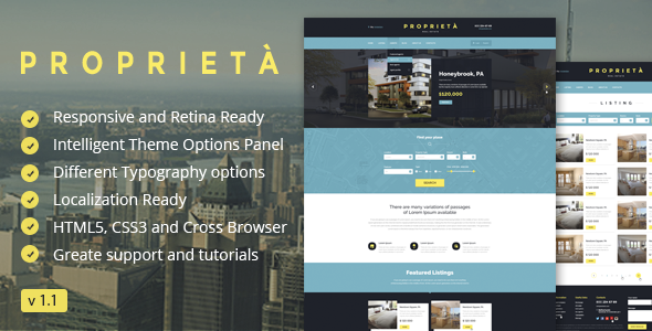 Proprieta Responsive WordPress Theme