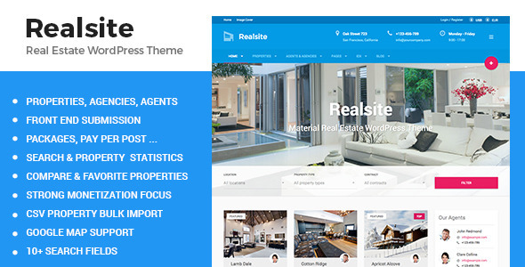 Real Estate Agency WordPress Themes