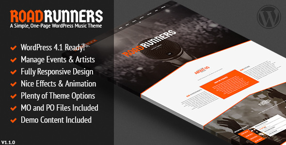 WordPress Music and Band Themes
