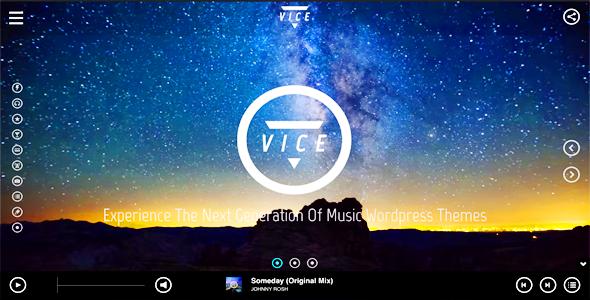 Vice - Music, Dj and Music Band WordPress Theme