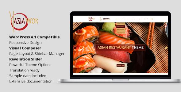 Asia Wok - Responsive Restaurant WordPress Theme