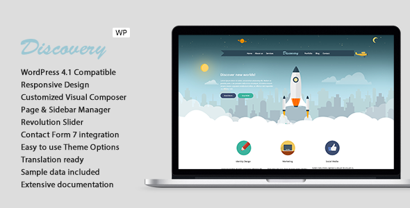 Discovery - Responsive Creative WordPress Theme