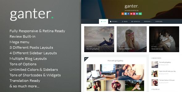 Ganter - Responsive WordPress Blogging Theme