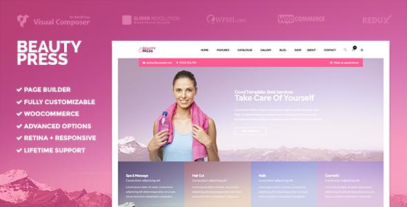 ER BeautyPress - Beauty Spa WordPress Theme