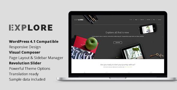 Explore - Responsive Business WordPress Theme