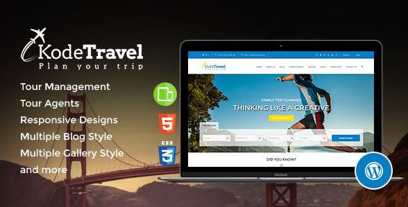 KodeTravel & Tourism WordPress Theme