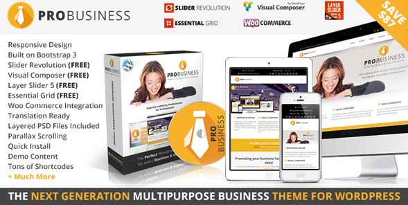 PRO Business - Responsive Multi-Purpose Theme