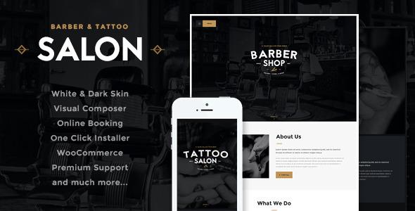 Salon - Barbershop & Tattoo WordPress Theme