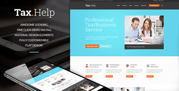 Tax Help - Finance & Accounting WordPress Theme