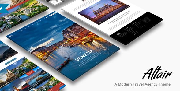 Tour Travel Agency WordPress Altair Theme