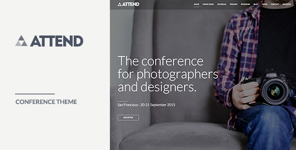 Attend - Conference & Event WordPress Theme