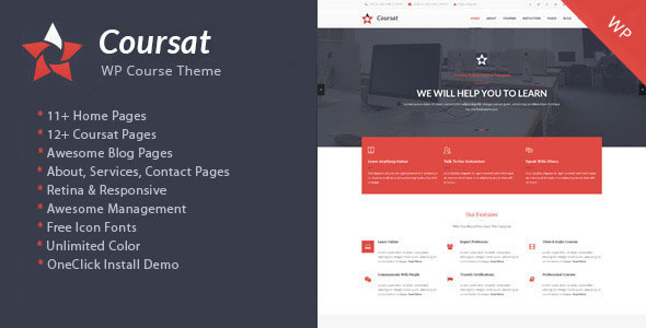 Coursat - Multipurpose WP Inquiry Portal Theme