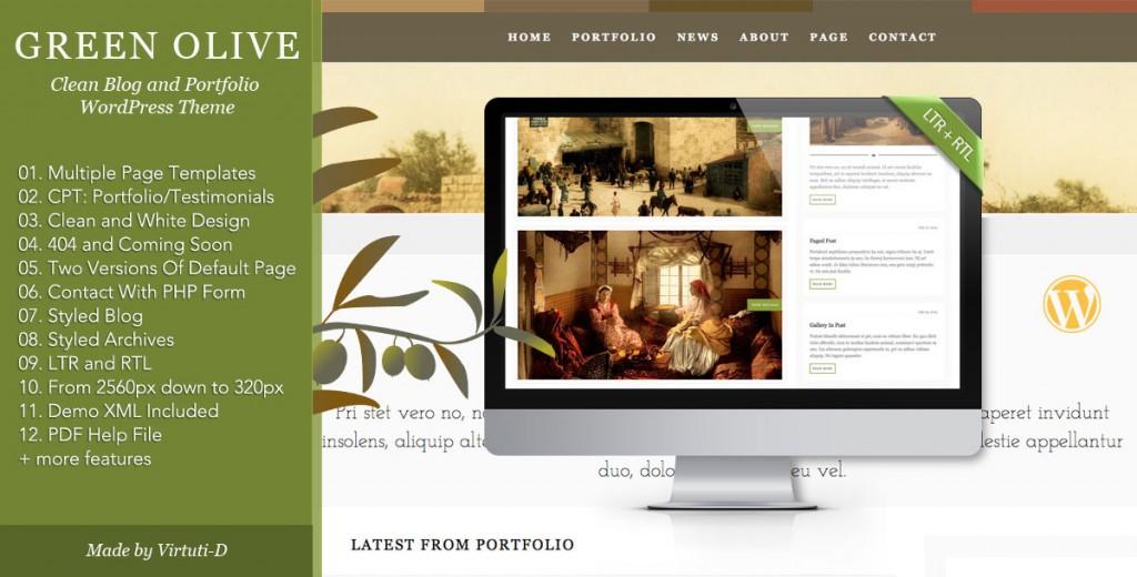 Green Olive - Stylish Blog and Portfolio Theme