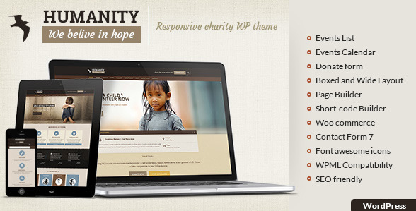 Humanity - NGO & Charity WordPress Theme