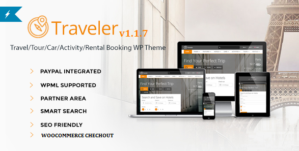 Traveler - Travel, Tour, Booking WordPress Theme