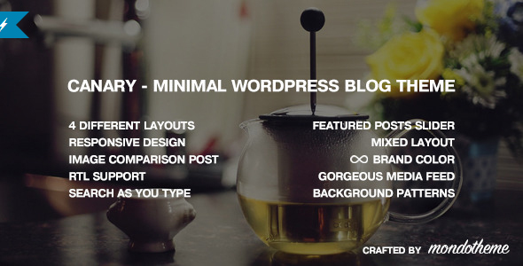 Canary - Minimal WordPress Blog Theme