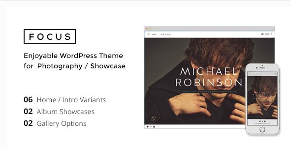 FOCUS - Minimal WordPress Theme for Photographer