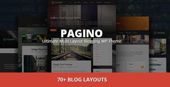 Pagino - Ultimate Multi Layout Blogging WP Theme