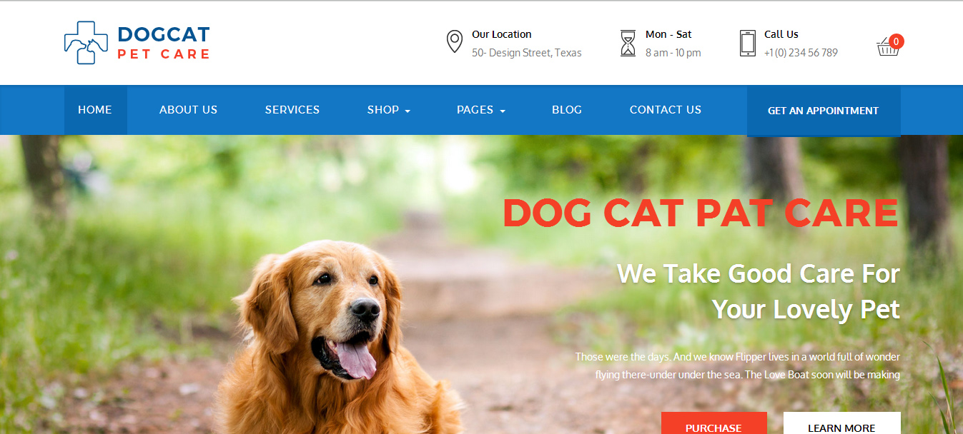 pet care wordpress themes
