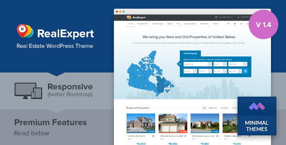 Real Expert - Responsive Property Listing WordPress Theme