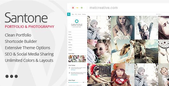 Santone - Clean Portfolio & Photography WP Theme
