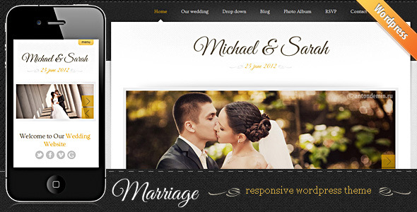 Wedding Events WordPress Themes