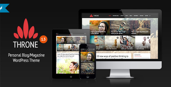 Throne - Personal Blog, Magazine WordPress Theme
