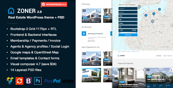 Latest WordPress Property Listing Themes - WPFriendship