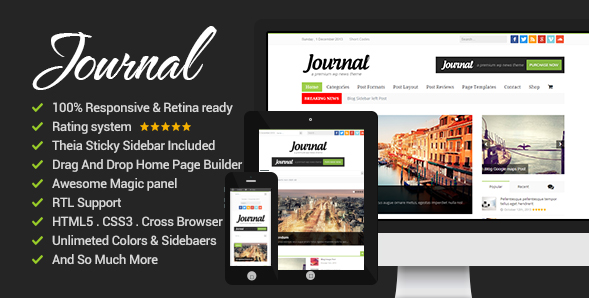 News Journal - News Magazine Newspaper Minimal Theme