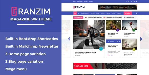 Ranzim - Responsive Magazine WordPress Theme