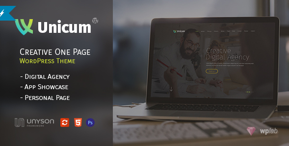 Unicum - One Page Creative WordPress Theme