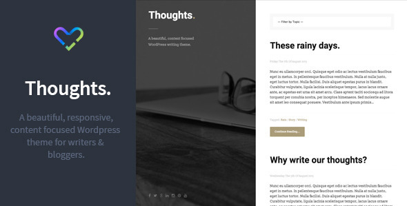 Thoughts - Responsive WordPress Blogging Theme