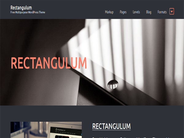 Rectangulum - Free Fullscreen WordPress Themes