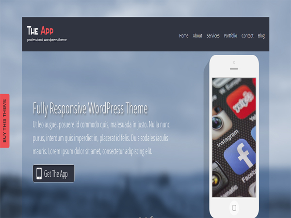 SKT The App - Free Fullscreen WordPress Themes