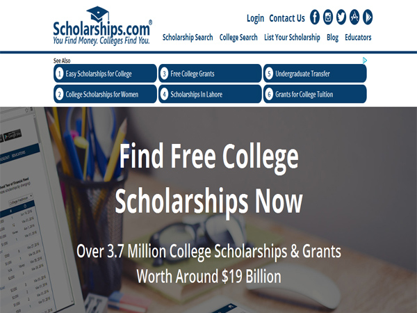 Scholarships - Scholarship Website Designs